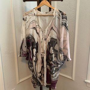 Diane von Furstenberg Fleurette Marble Silk Dress